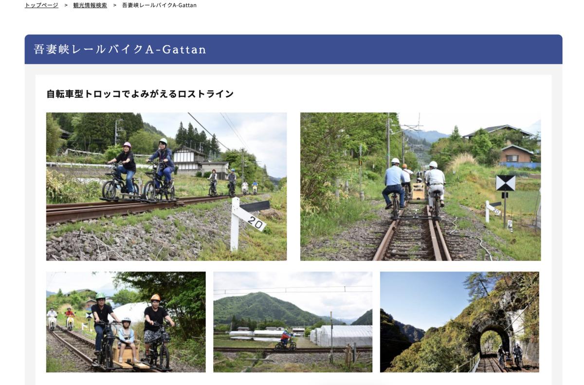 吾妻峡レールバイク A-Gattan
